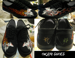 Okami shoes by SarurunKamui