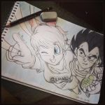 Teen Bulma and Teen Vegeta by mayabriefs