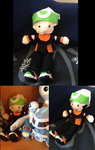 Brendan/Ruby - Pokemon Trainer Doll by QuetzalLeo