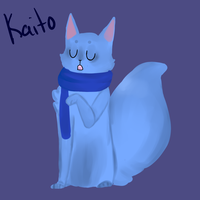 Kaito cat for penguin-lullaby by HipHoppy