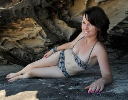 Emma - 60s bikini in cave 1 by wildplaces