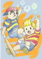 Lucas y Ness by Gatomimo