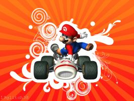 Mario Kart Wallpaper by glitch1938