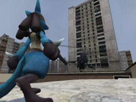 Lucario's Last Stand by VortiLikesWave