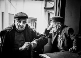 Men at coffee by Masisus