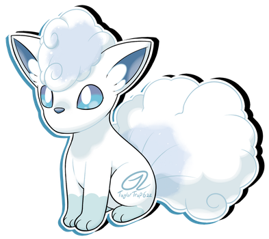 Pokemon Fan Art - Alolan Vulpix by TaylorTrap622