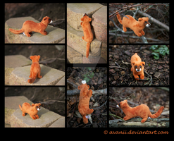 SOLD Plushie: Kohaku the Japanese Weasel by Avanii