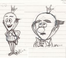King Candy sketches by abrilmazziotti
