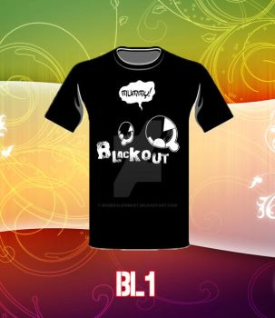 Blackout Design Tee... by BonekalifeMust