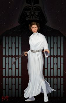Princess Leia Organa by TheGreaterDesign