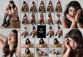 Stock:  Liz 20 Seated Disaster or Horror Poses by ArtReferenceSource