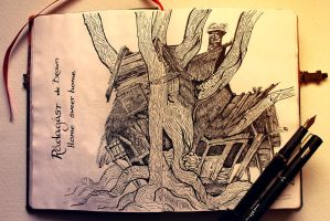 Home of Radagast the Brown by Kinko-White