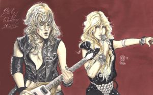 KK Downing and Doro collab 2 by cozywelton