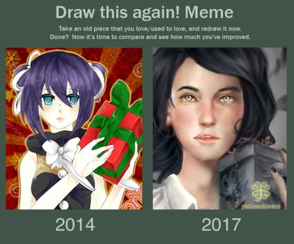Draw this again New Year by YellowClovers