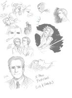 X-Men First Class: doodle dump by alexis-the-angel