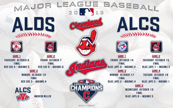 Cleveland Indians 2016 Postseason by Superman8193