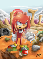 Knuckles Sandopolis zone (STC 20) by kintobor