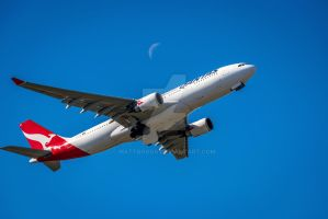 Airbus and Moon by mattboggs