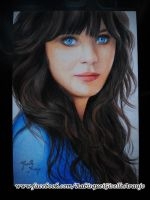 Zooey Deschanel by GiselleAFerreira