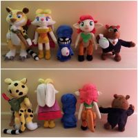 Spyro Side Character commissioned plush toys by frozendragonflames