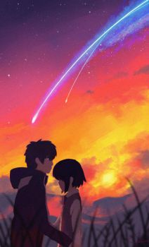 Your Name(Kimi no nawa) Fan art by TheCreativeFiction