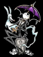 Jack Skellington with Umbrella by favius