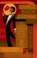 Edible Book Festival 2016 poster by PaulSizer