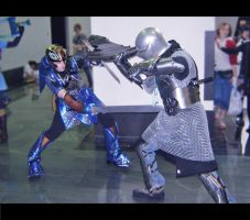 Link VS Knight by GingerAnneLondon