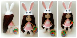 Ellie The Spring Bunny by PinkCrochet