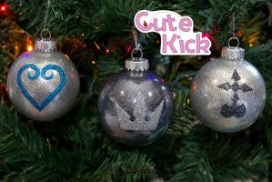 Kingdom Hearts Ornaments First Batch by cutekick