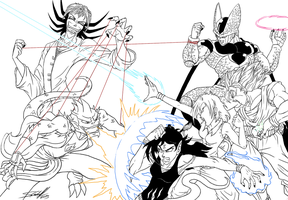 The Battle (uncolored) by Hevimell