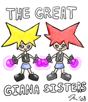 Cellphone Giana Sisters by melissaduck
