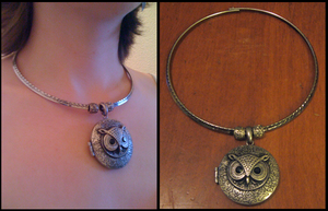Owl Locket - Necklace by Lai-Tut