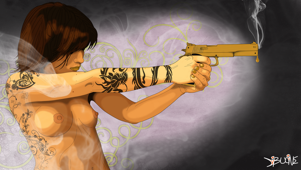 Gun Girl Effect 10 by Neoindigo1