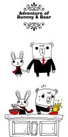 adventure of bunnny and bearr by rob-jr