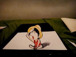 Attempted 3D Luffy by naldojunio