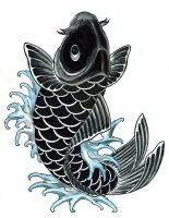 black koi by DookiePants