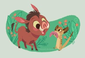 timon and pumbaa by tinysnail