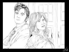 The Doctor and Donna Noble by c13diz