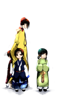hetalia Asians in the 8C by azure-meipo