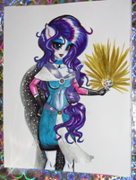 Sexy Equestria Girl Rarity Metal Buttons Shimmer by alaer