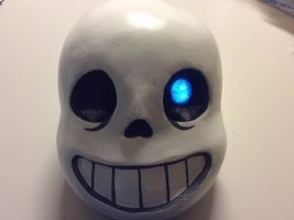Finished Sans Head (Blue Eye) by AttackGoose