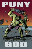 Hulk SMASH Puny God by thepenciler