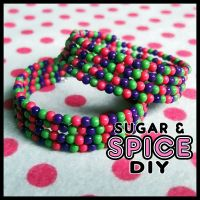 Bubble KANDi KUFFS Rave Bangles by SugarAndSpiceDIY