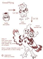 Hoobble- The Burrowing Owl Pokemon by spiderliing666