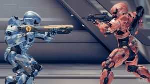Halo 4 | Spartan lV females Red vs Blue by Goyo-Noble-141