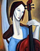the cellist by dustcat