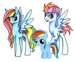 The Rainbow Family by SophieWarriorofLight