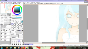 Still WIP. Aoi . Girl with Blue eyes. by DanAniiMangApple