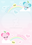 Lovely Pandabee Letter-Set by pink-yume
